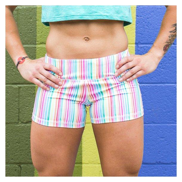 Double Take Booty Shorts (Rainbow)