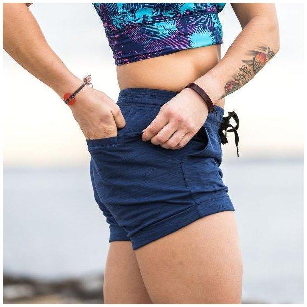 Female Lounge Shorts (Navy Blue)