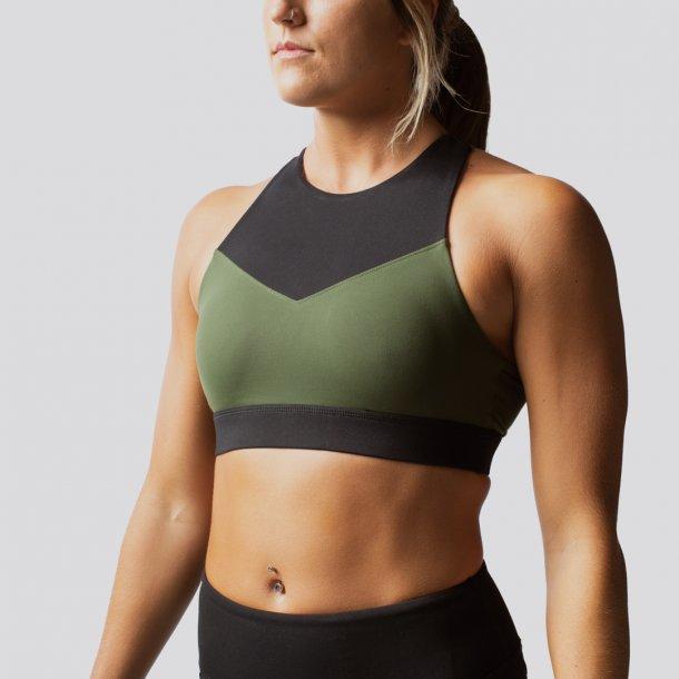 Movement Sports Bra (Tactical Green/ Black)