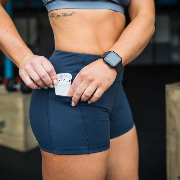 Rise & Grind Booty Shorts (Navy Blue)