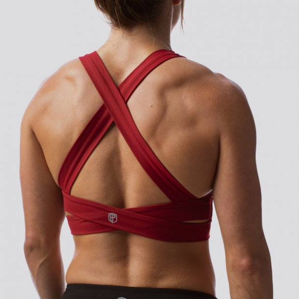 The Double Cross Sports Bra (Wine)