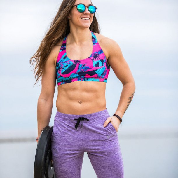 Female Rest Day Athleisure Joggers (Violet Purple)