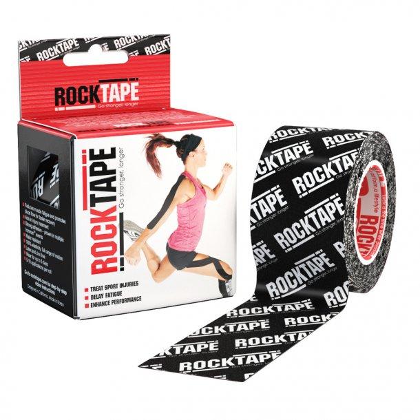 Black Logo Rocktape 5cmX5m