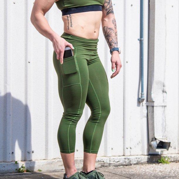 Rise & Grind Capris (Tactical Green)