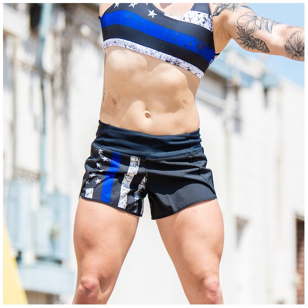 Free Flow Shorts (Thin Blue Line Police Edition)