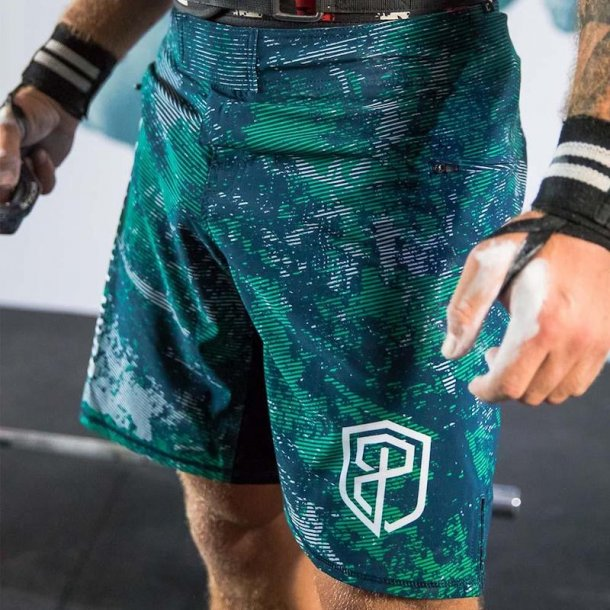 American Defender Shorts 2.0 (Grunge Camo)
