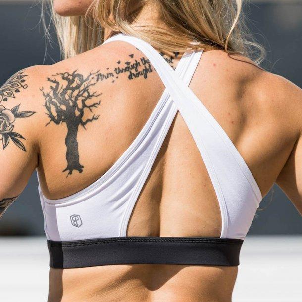 Movement Sports Bra (White/ Grey)