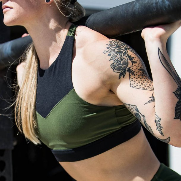 Movement Sports Bra (Tactical Green/ Black)