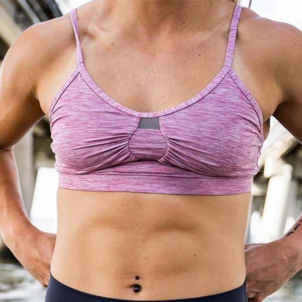 The Delle Athleisure Bra (Rose)