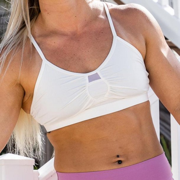 The Delle Athleisure Bra (White)