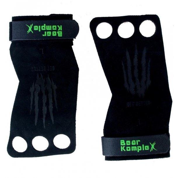 Bear KompleX Leather Grips 3Hole (Black)