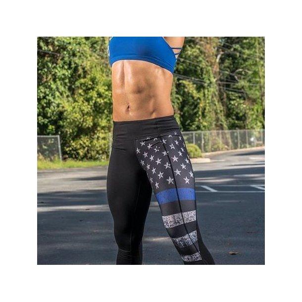 Essential Leggings 2.0 (Thin Blue Line Police Edition)